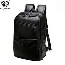 """Baijiawei hombres mochilas de cuero de moda bolso de las mujeres mochila diaria 14 """"ordenador portátil de la escuela bolsa casual y de los hombres de viaje mochilas bolsas de los hombres"""