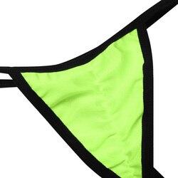 Комплект женского нижнего белья из 2 предметов, ремешки, уздечка, сексуальный популярный топ с завязками по бокам, Т-образный вырез сзади, от... 5