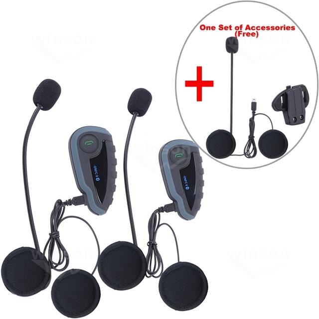 1 Unidades accesorio más + 2 unids v8 interfono 5 jinetes fm control remoto motocicleta intercomunicador bluetooth headset casco de la moto