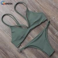 2 Piece Reversible Women Bikini Set Low Rise Swimsuit Swimwear