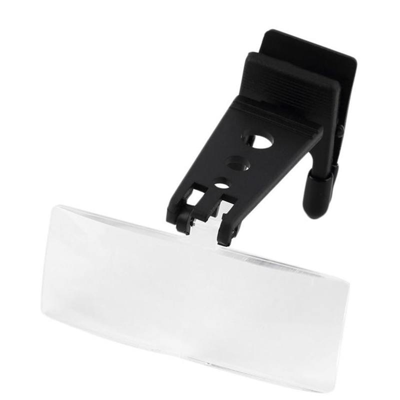 1.5x 2.5x 3.5x Folding Eyeglass Clip On Flip Loupe Magnifier Hands Free Reading Magnifyi ...