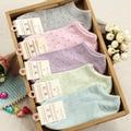 20 unidades = 10 pares de pequeño Polka tamaño de punto de mujer mujeres de thin calcetines de tobillo