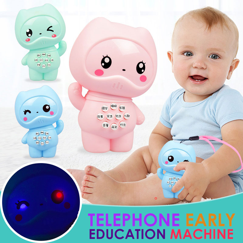 Story Machine Intelligent Learning Machine Blue Plastic Electric Baby Learning Machine Cell Phone Toy Gifts Early Education