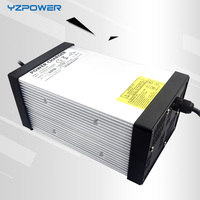 YZPOWER 50.4V 15A 14A 13A 12A Smart Lithium Battery Charger Power Supply for 44.4V Li Ion Ebike Battery Chargeur Pile