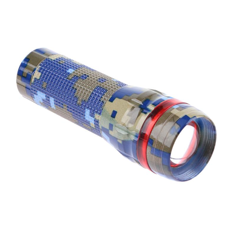 Hunting Flashlight Touch Camouflage Mini Zoomable Portable Waterproof LED Flashlight Warning Light not include Battery