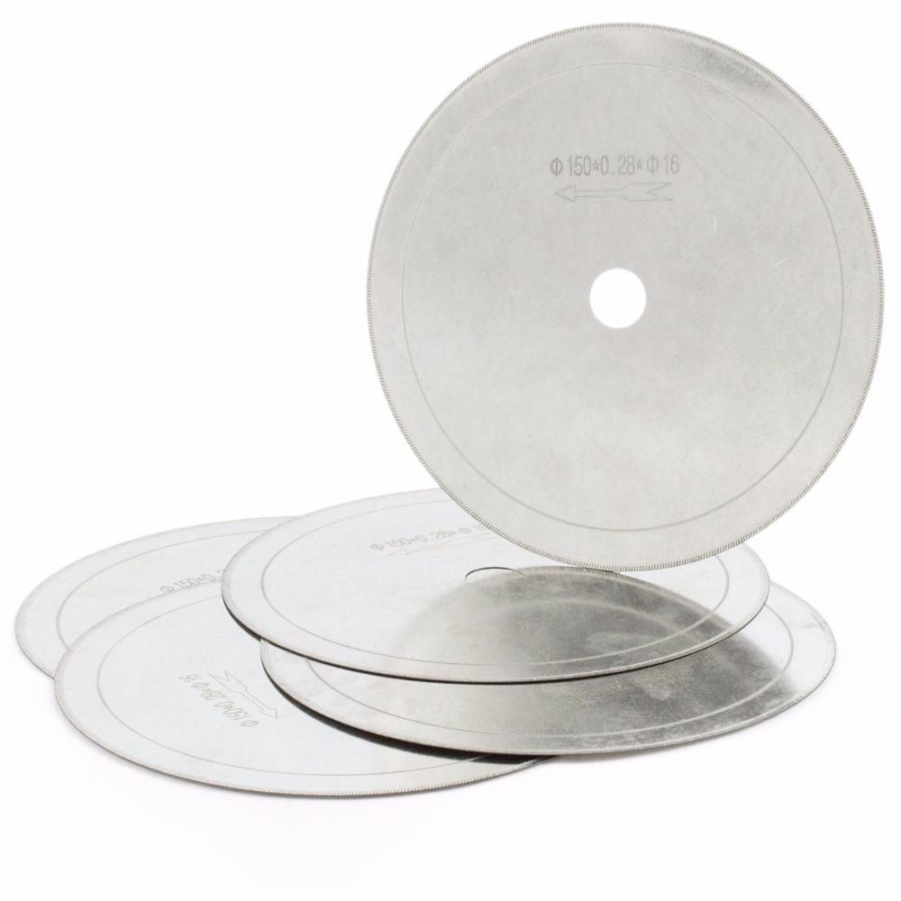 "5Pcs 6 ""اینچ فوق العاده نازک آربر سوراخ 5/8"" حاشیه 0.36mm الماس Lapidary اره تیغه برش تیغه ابزار جواهرات دیسک سنگهای سنگی"