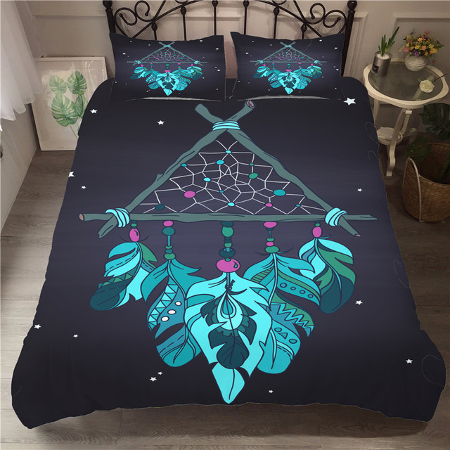 Bedding Set 3D Printed Duvet Cover Bed Set Dreamcatcher Bohemia Home Textiles for Adults Bedclothes with Pillowcase #BMW03