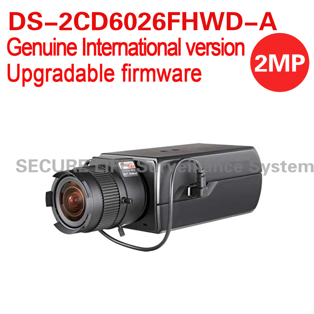 Free shipping English version DS-2CD6026FHWD-A 2MP Ultra Low-light Box CCTV Camera POE, smart face detection, built-in mic реверсивное кольцо jjc br 1k адаптер фильтра для nikkor 52mm