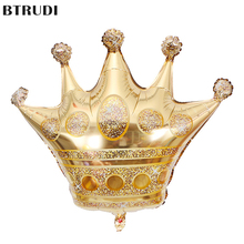 BTRUDI 1pc Crown aluminum balloon gold wedding celebration balloons birthday party decoration