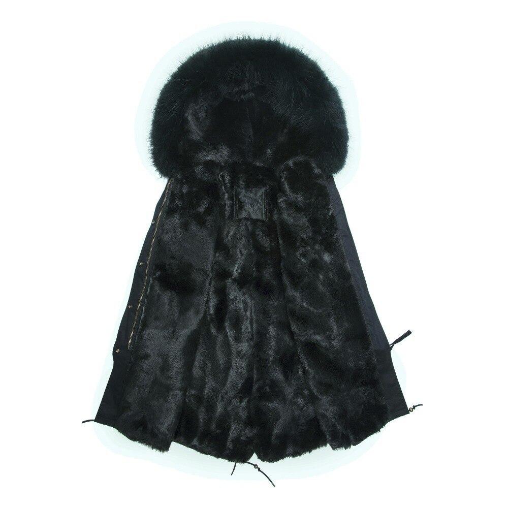 Luxury Women Winter Faux Fur Warm Long Coat jacket Outwear with Raccoon Fur Trim Plus size S 4XL