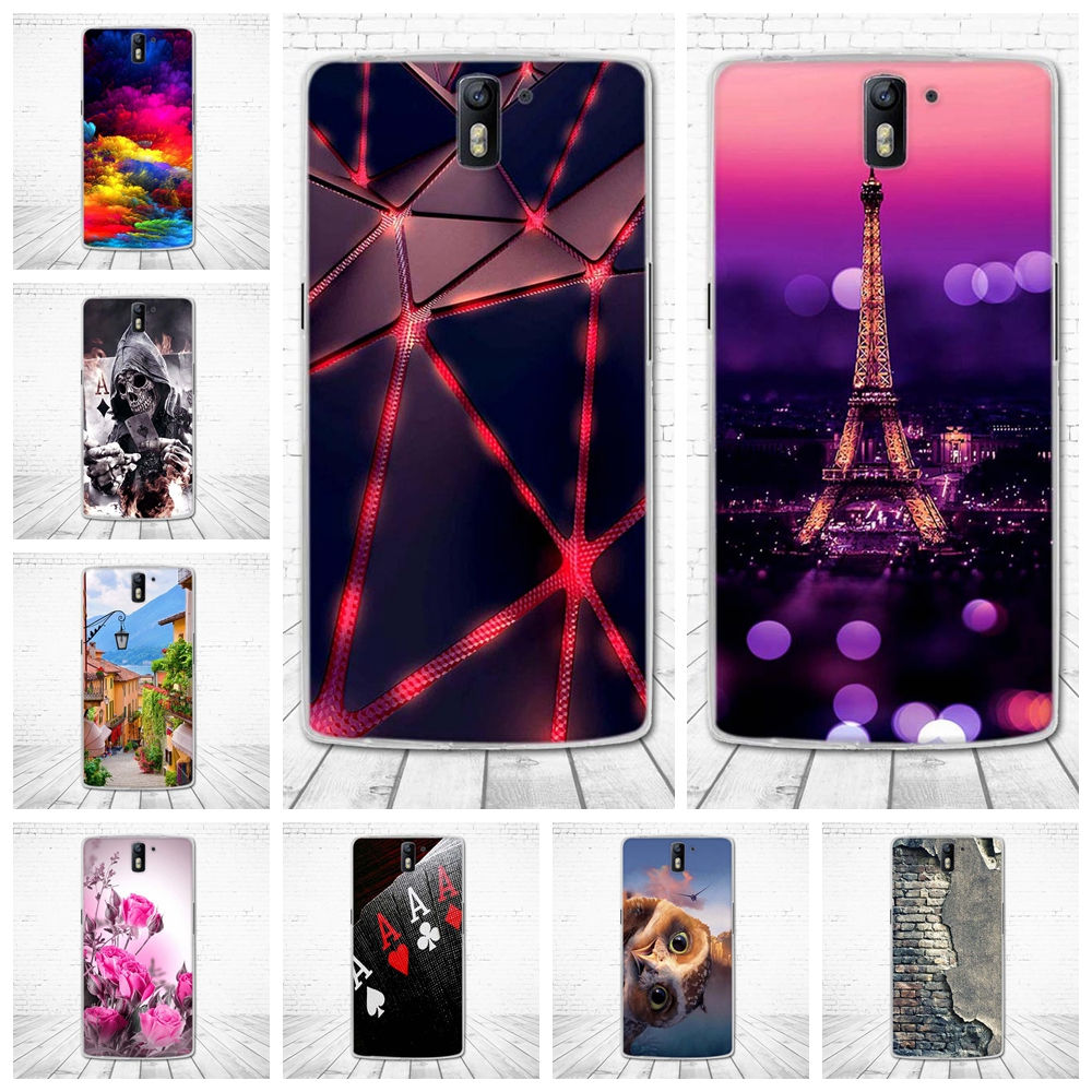 For Oneplus One Case Silicon TPU Cover For Oneplus One 1+1 Case 3D Pattern Bag Cute Capa For Oneplus One A0001 5.5'' Phone Cases