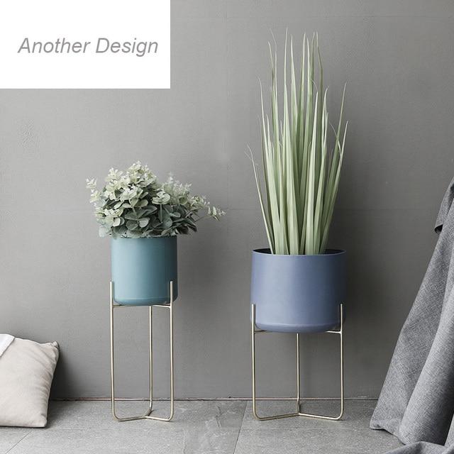 Metal Shelf Flower Pots Planters High End Luxury Home Decor Vases Modern Fashion Design