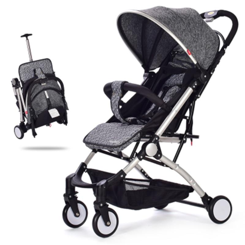Baby stroller lightweight can sit reclining folding shock portable mini baby umbrella child cart