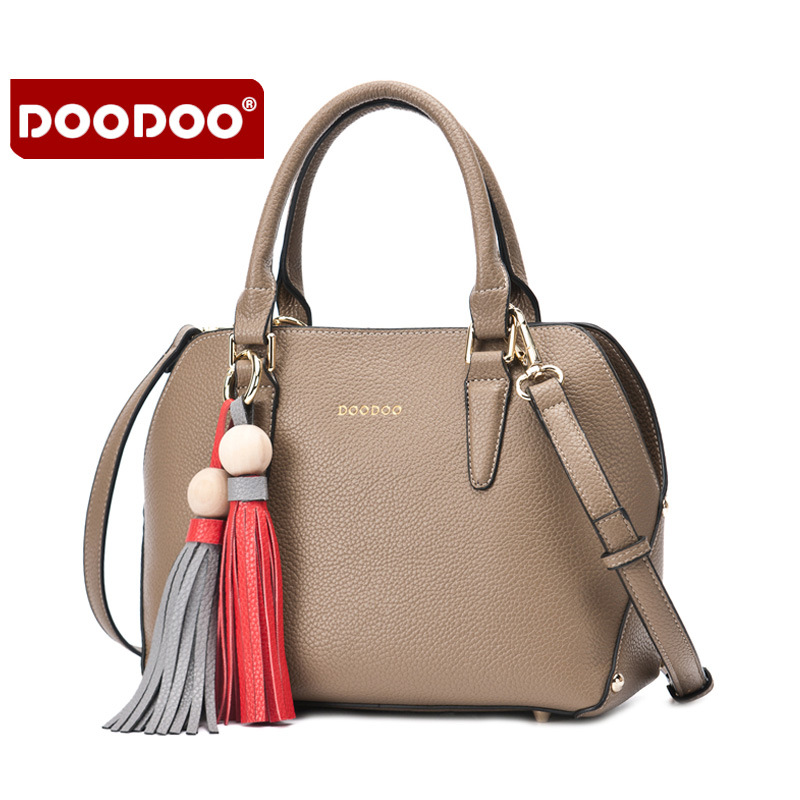 DOODOO 2016 Lady Real Leather Handbags Crossbody Women's Messenger Shoulder Bags Luxury Brand woman ladies hand bags Tassel T469 retail fashional women leather handbags lady shoulder messenger bags woman tassel ladies hand bag 4 colors