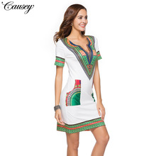 Spring and summer 2018 best selling tight ethnic print new womens dress casual
