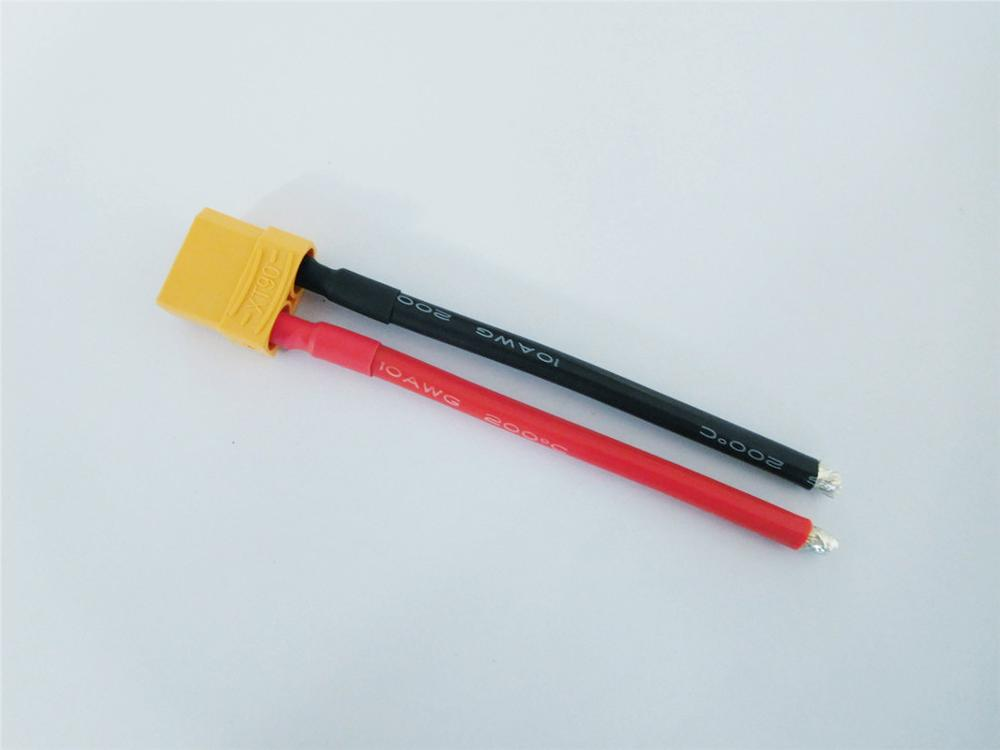 XT90 косичка Мужской Женский Соединительный кабель XT-90 вилка с кремниевым проводом 10AWG 10 см для RC Хобби батарея FPV - Цвет: Female XT90 Cable