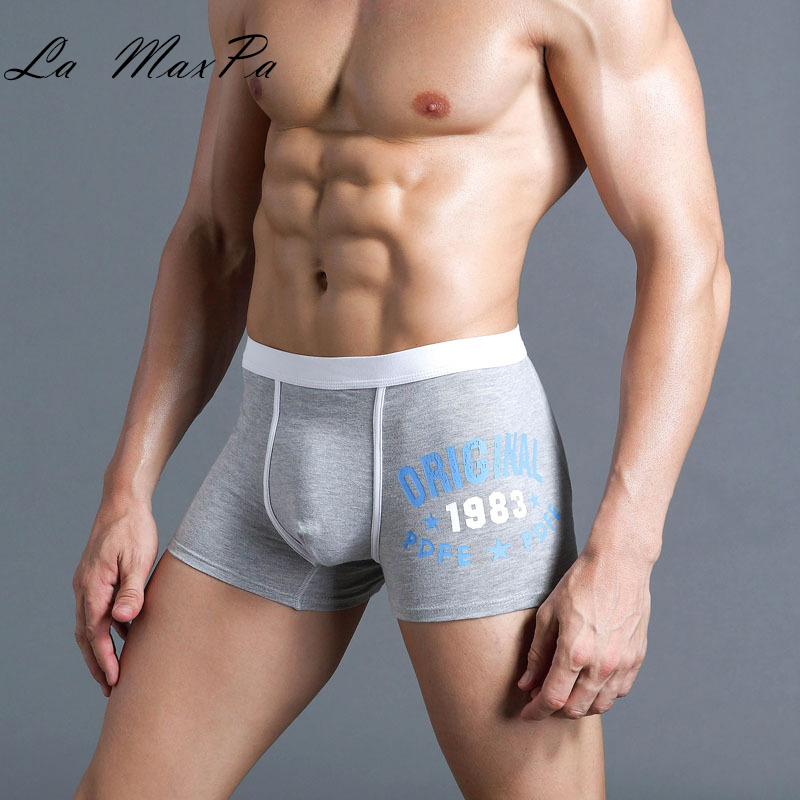 La MaxPa New Solid Briefs Factory Direct Sale Mens Brief Cotton Mens Bikini Underwear 1 Pcs/lot Pant For Men Sexy Underwear