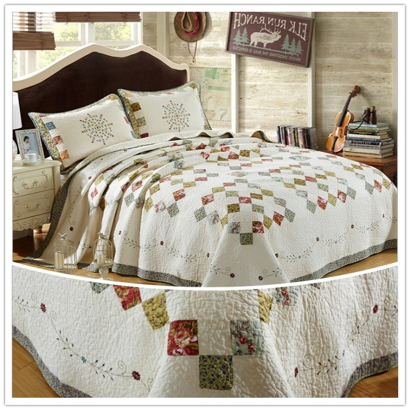 High quality quilted cotton was. Hand stitching stitched quilts ...