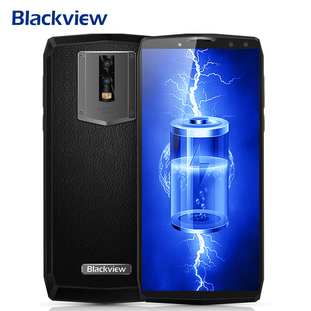 Blackview P10000 Pro 5.99 FHD 11000mAh 4G Mobile Phone Android 7.1 P23 MTK6763 Octa Core 4GB+64GB 16MP+13MP 4 Cams Smartphone