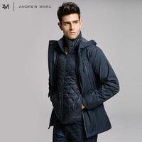 Andrewmarc Новое поступление 2017 года куртка человек парки пальто с капюшоном толстые холодная зима теплая Для мужчин Мужские парки Пальто tm7ac273