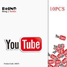 d91d42cd2 10 PCS Etiqueta Do Logotipo de Vídeo Do Youtube Site Legal À Prova D  Água
