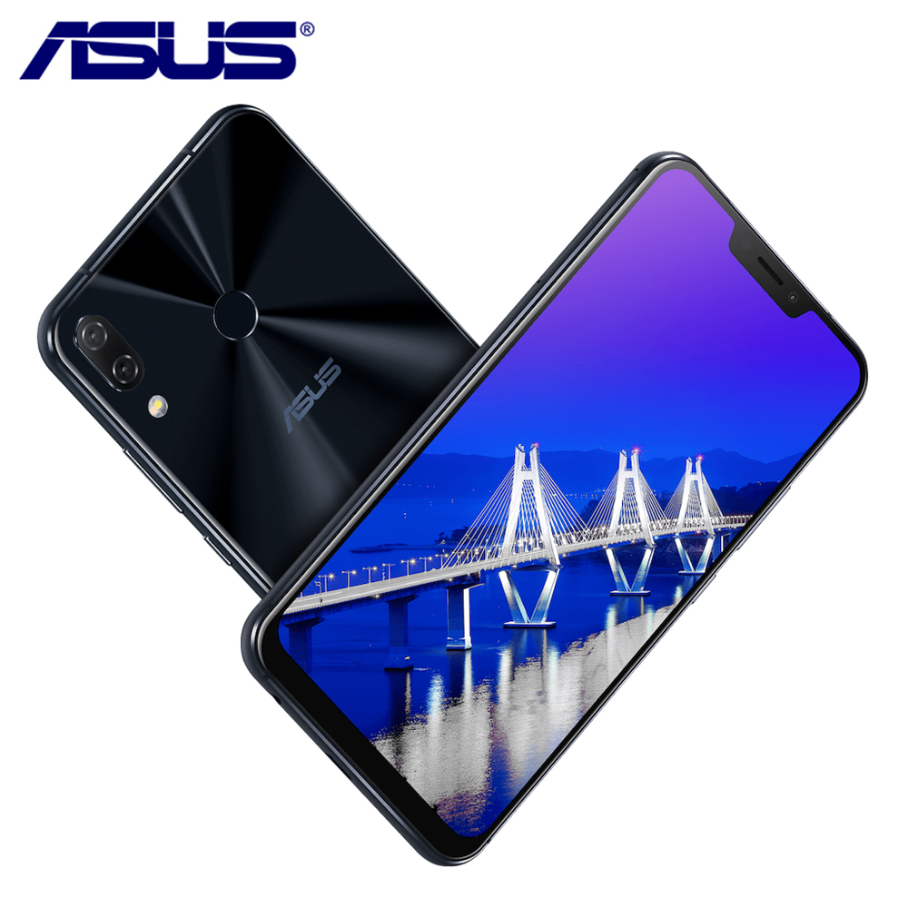 "New ASUS Zenfone 5 ZE620KL 6.2"" AI Camera 19:9 Snapdragon 636 Android 8.0 Type-C Bluetooth 5.0 64G ROM 4G RAM LTE Mobile Phone"