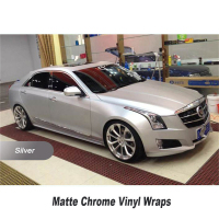 Car Styling High Quality Matt Chrome Silver Vinyl Wrap Decal With Air Free Bubble For Vehiche