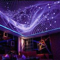 Beibehang Large Custom Made Abstract Dazzling Colorful Fashionable Ceiling Ceiling Tiled Decoration