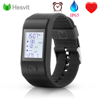 Fashion Android IOS Hesvit G1L Bluetooth 4 0 Smart Watch Fitness Heart Rate Sports Tracker Polsband