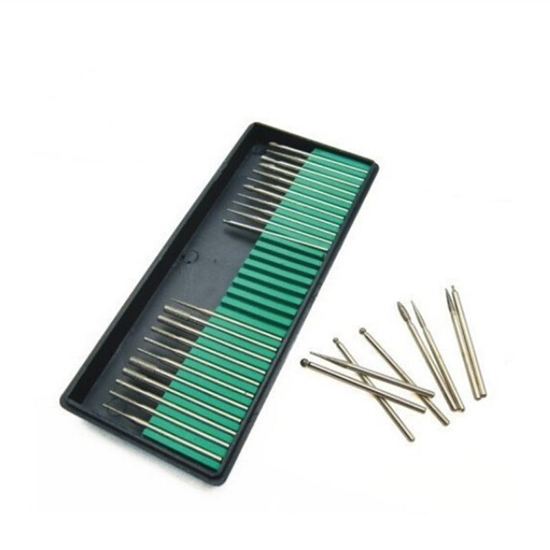 New Wholesale Stainless Steel Nail Drill Bits Electric Nail Art Equipment Manicure Tool 30pcs