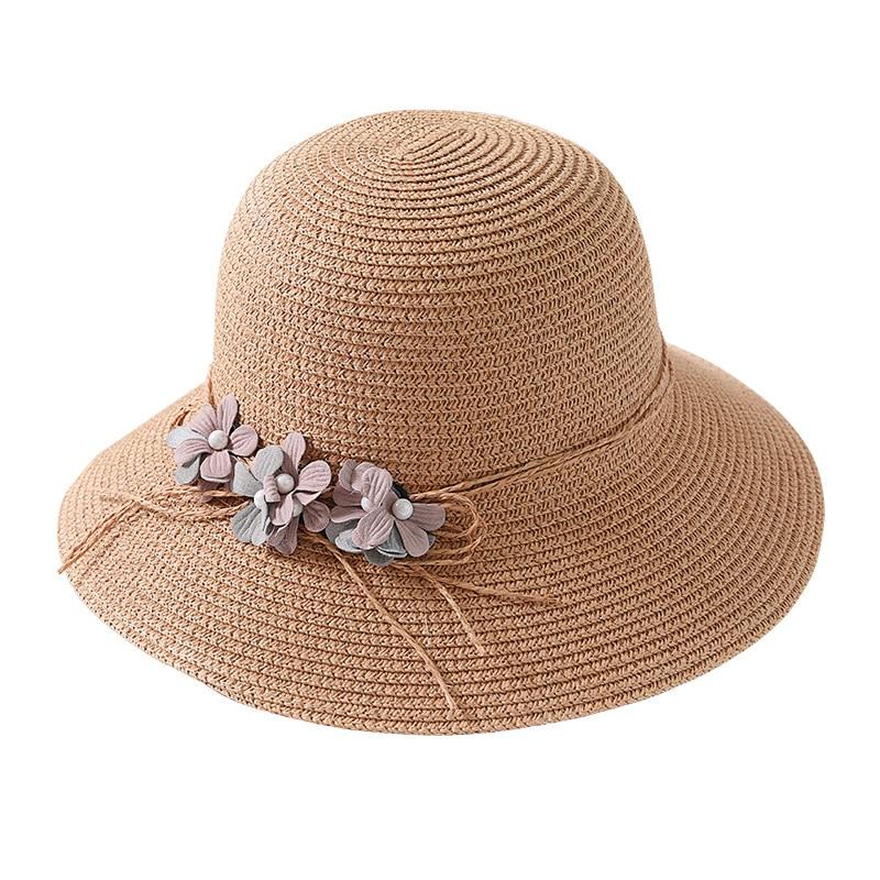 USPOP 2018 New Fashion wanita musim panas bunga topi matahari topi - Aksesori pakaian - Foto 6