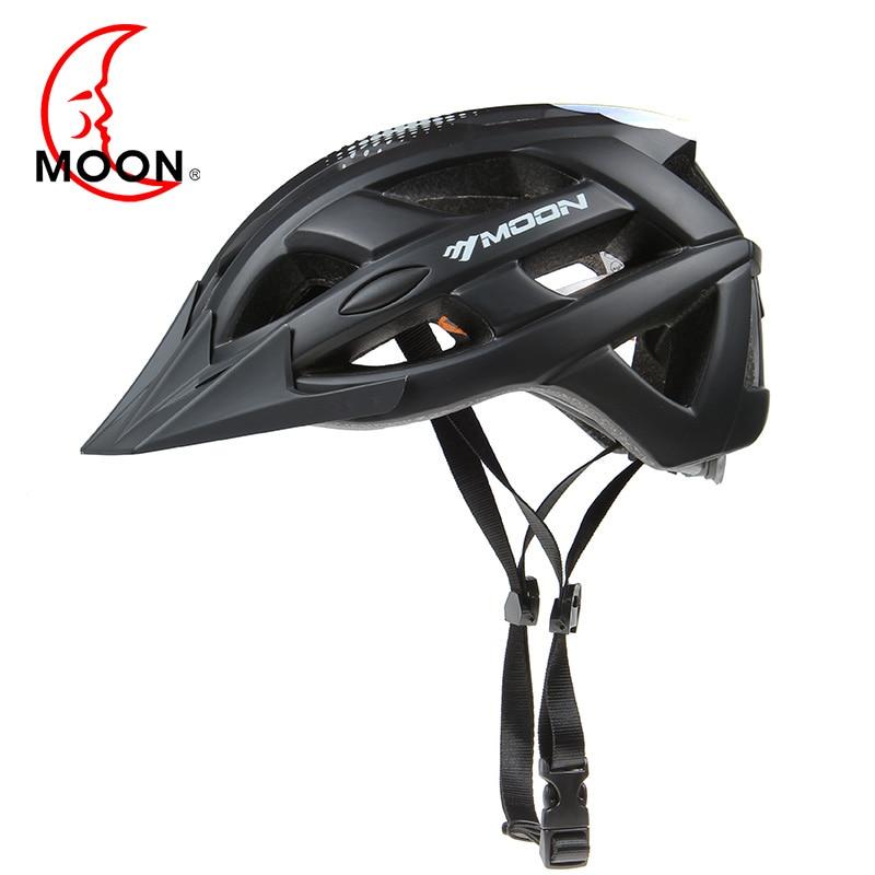 Moon 自転車ヘルメットプロ MTB サイクリングヘルメットの男性と女性の保護高品質統合成形自転車ヘルメット  グループ上の スポーツ & エンターテイメント からの 自転車用ヘルメット の中 1