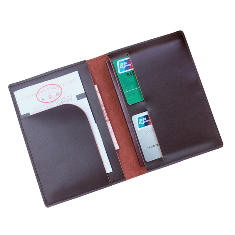 Designer Soft Leather Men Passport Cover Split Leather Business Passport Holder Pasport Passport Case