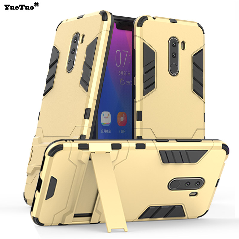 ef842ae08df YueTuo de lujo original armadura caso para xiaomi mi Pocophone poco F1  híbrido F 1 a prueba de golpes a prueba del tpu del teléfono duro de la  cubierta ...