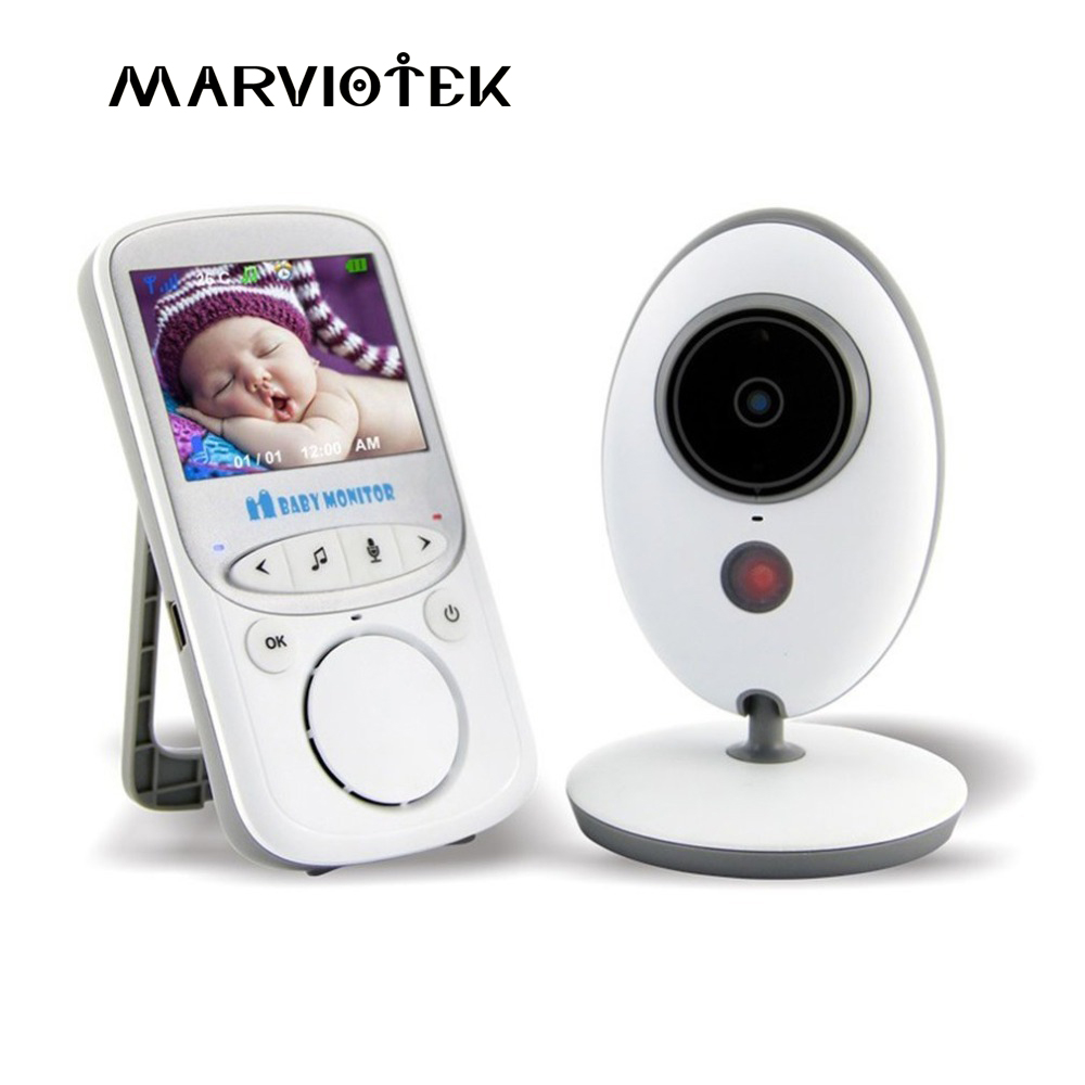 VB605 Wireless LCD Audio Video Baby Monitor Radio Nanny Music Intercom IR 24h Portable Baby Camera Baby Walkie Talkie Babysitter