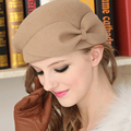 Fedoras Female Hat Cap Women Fedoras Elegant British Style Soft Wide Brim Pure Wool Fedoras Hat Women Vintage Popular Wool Caps