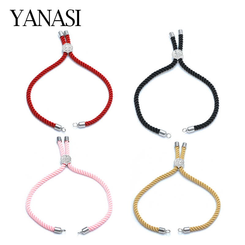 12 Colors NEW Black Red String Woven Rope Adjustable Link Chain for Connectors Charms Bracelets Jewelry Making Jewelry Findings