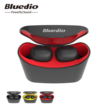 Bluedio T-elf mini Air pod Bluetooth 5.0 Sports Headset Wireless Earphone with charging box Phone Earphones & Headphones