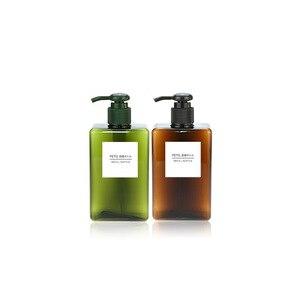 Image 5 - 1pcs PETG large capacity emulsion bottling bottle 100/150/200/250/450ml shower gel shampoo moisture filled plastic bottle BQ023