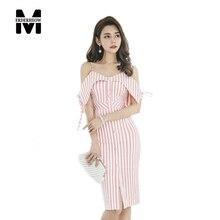 Merderheow новый 2017 летом женские рукавов полосатый v-образным вырезом dress femme повседневная кнопка женщины секси стройная платья l842