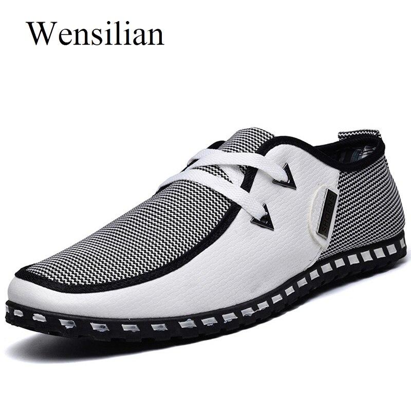 Sommer Müßiggänger Männer Casual Schuhe Fashion Slip Auf Turnschuhe Männer Wohnungen Fahren Schuhe PLUS GRÖßE 38-47 Trainer Zapatos hombre