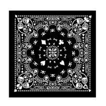 100% Cotton Hip Hop Skull Black Paisley Bandana Headband Hair Headwear/Hair Band Scarf Neck Wrist Wrap Band Headtie Women Men(China)