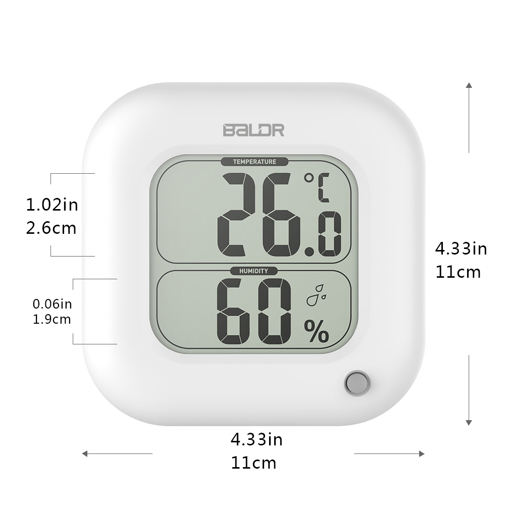 Raum Thermometer Us 9 47 34 Off Baldr Digital Thermometer Hygrometer Indoor Max Min Raum Temperatur Meter Feuchtigkeit Sensor Gauge Wand Tisch Lcd Display Platz In