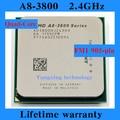 Пожизненная гарантия A8 3800 2.4 ГГц 4 м четырехъядерные процессоры настольных процессоров процессора Socket FM1 905 контакт. компьютер