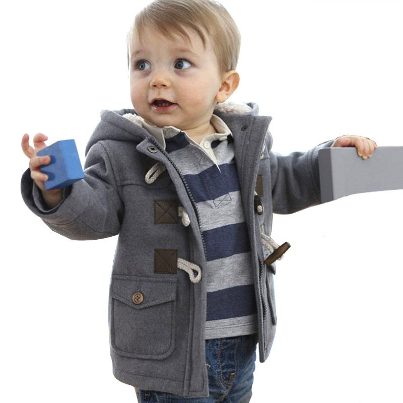 2018 Baby Boy Clothes Winter Coat Thick Warm Cotton-padded Jacket Fleece Infant Overcoat Kids Hoodies Costume Children Clothing