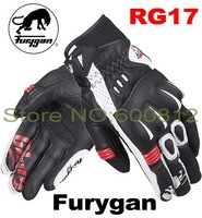 2016 NEW SUMMER French brand Furygan RG17 motorcycle racing gloves Short vented leather motorbike gloves 2 colors 3 size