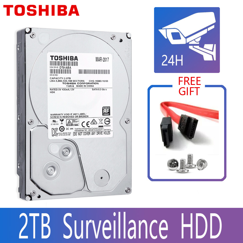 TOSHIBA DVR NVR CCTV 2TB Hard Drive Disk 2000GB HDD HD Internal SATA 3 5700RPM 32M