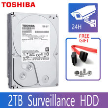 "TOSHIBA DVR NVR CCTV 2TB Hard Drive Disk 2000GB HDD HD Internal SATA 3 5700RPM 32M 3.5"" Harddisk Harddrive(China)"