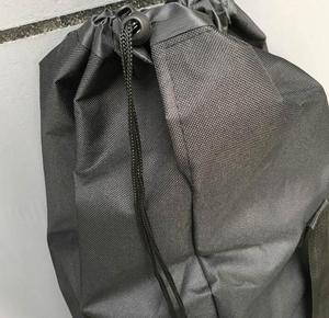 Image 3 - 長さ 110/120 センチロングボードスケートボードショルダーバックパック黒キャンバス運ぶ巾着