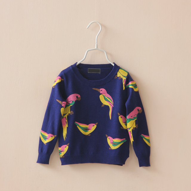 Autumn children's clothing female child pattern sweater child long-sleeve sweater